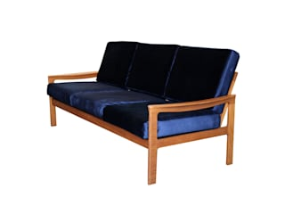 Vintage Deense sofa:   door Zo Goed Als Oud