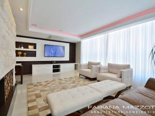 Salas de estilo moderno de Fabiana Mazzotti Arquitetura e Interiores Moderno