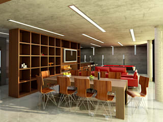 Living room by unoenseis Estudio, Modern
