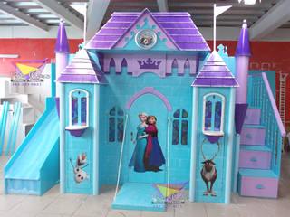 Hermoso castillo de Frozen: Habitaciones infantiles de estilo  por camas y literas infantiles kids world