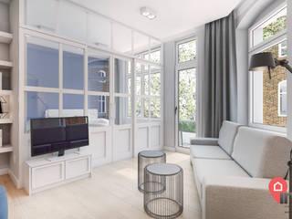 Living room by InSign Pracownia Projektowa Karolina Wójcik