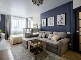 Eclectic style living room by Студия Анастасии Бархатовой Eclectic