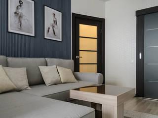 Однокомнатная квартира в г. Реутов Гостиные в эклектичном стиле от Студия Анастасии Бархатовой Эклектичный