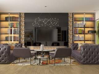 Living room by GN İÇ MİMARLIK OFİSİ