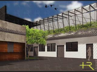 Asociación Maximiliano Kolbe Pasillos, vestíbulos y escaleras modernos de +R Arquitectos Moderno