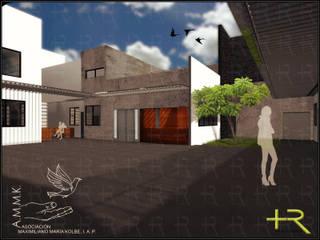 Asociación Maximiliano Kolbe Casas modernas de +R Arquitectos Moderno
