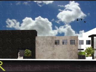 Asociación Maximiliano Kolbe +R Arquitectos Casas modernas Concreto Gris