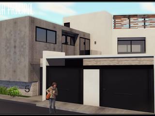 Casa Volker: Casas de estilo  por +R Arquitectos