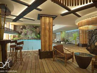 Бассейн в частном клубе (305 кв.м.): Бассейн в . Автор – Архитектор-дизайнер Анастасия Ковальчук