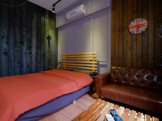 走進福爾摩斯 Baker Street 貝克街的英倫套房: 產業  by Lee Design International 空間&室內設計, 工業風