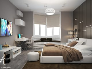 Design studio by Anastasia Kovalchuk Modern style bedroom