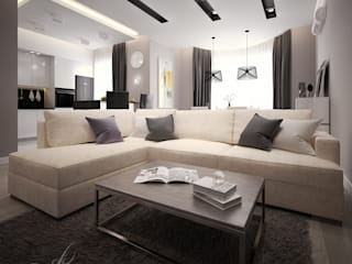 Modern living room by Design studio by Anastasia Kovalchuk Modern