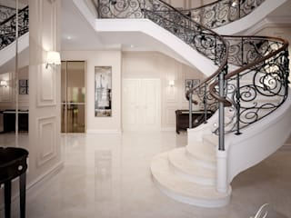 Modern Corridor, Hallway and Staircase by Design studio by Anastasia Kovalchuk Modern