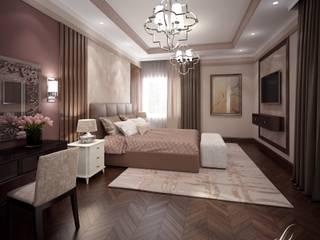 Villa with the pool: modern Bedroom by Design studio by Anastasia Kovalchuk