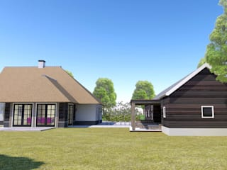 Woning Harmelen Landelijke huizen van Architectenbureau van den Hoeven b.v. Landelijk