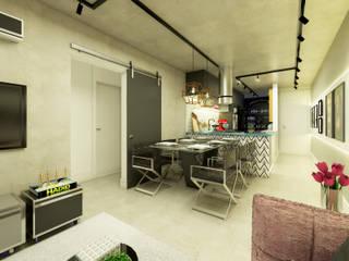 Salle à manger de style  par Daniela Simões Arquitetura e Interiores