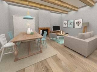 DECORACIÓN SALÓN-COMEDOR EN SAINT BRIEUC de Nice & Simple interiorismo Minimalista