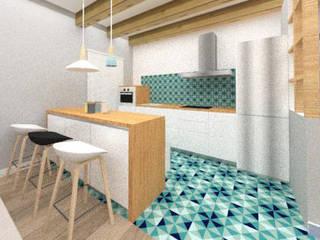 PROYECTO DE COCINA EN SAINT BRIEUC Cocinas de estilo moderno de Nice & Simple interiorismo Moderno