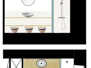 PROYECTO DE BAÑO EN SAINT BRIUEC Baños de estilo moderno de Nice & Simple interiorismo Moderno