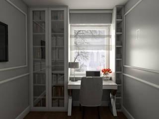 : styl , w kategorii Domowe biuro i gabinet zaprojektowany przez emc|partners