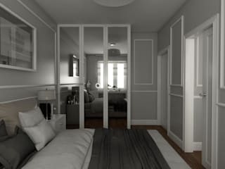 : styl , w kategorii Sypialnia zaprojektowany przez emc|partners