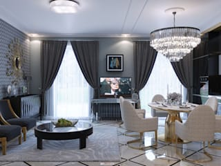 Salon de style de style Moderne par Wide Design Group