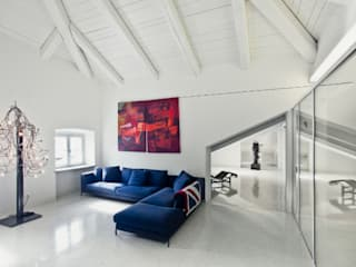 Restauro di Villa Recrosio oggi Benvenuti: Soggiorno in stile  di Pietro Carlo Pellegrini Architetto