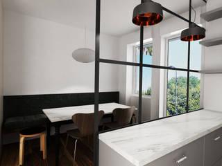 Casa Retro' Cucina in stile industriale di Euga Design Studio Industrial