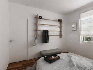 Casa Retro' Camera da letto in stile industriale di Euga Design Studio Industrial