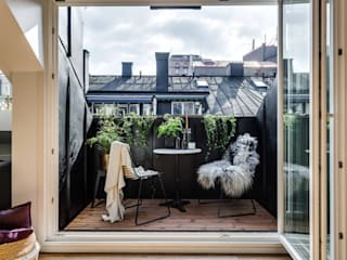 ​37 mq intelligenti Balcone, Veranda & Terrazza in stile scandinavo di Design for Love Scandinavo