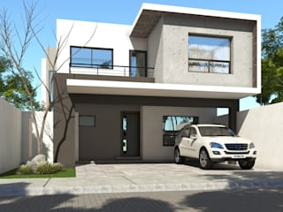 Fachadas Casas modernas de GA-Arquitecto Moderno