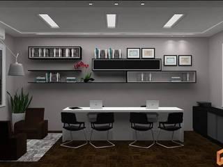INSTITUTO DESENVOLVE Espaços comerciais modernos por Rafaella Vessoni - Projete-se Arquitetura e Interiores Moderno