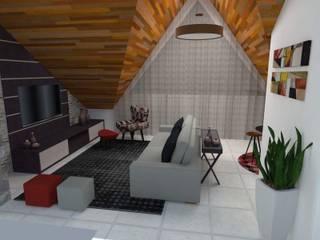 Sala de Estar Salas de estar modernas por Rafaella Vessoni - Projete-se Arquitetura e Interiores Moderno