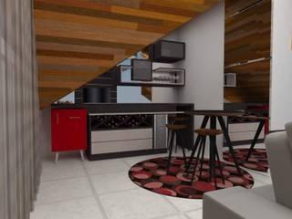 Sala de Estar Adegas modernas por Rafaella Vessoni - Projete-se Arquitetura e Interiores Moderno