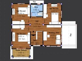 """แบบบ้าน """"HSD 3-02"""" โดย บริษัทโฮมสแตนดาร์ดหาดใหญ่ จำกัด"""