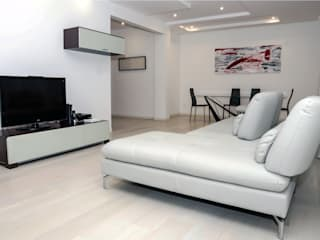 Luca Bucciantini Architettura d' interni Salones de estilo minimalista Madera Blanco