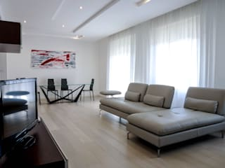 Luca Bucciantini Architettura d' interni Living room لکڑی White
