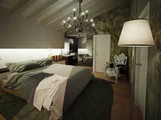 rendering interior: Camera da letto in stile in stile Moderno di fluidea3d