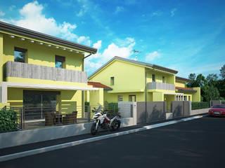 rendering exterior: Case in stile in stile Moderno di fluidea3d