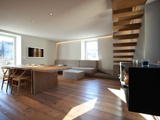 Salas de estilo moderno de studio di architettura DISEGNO Moderno