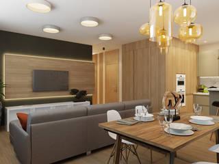 Salas de estar modernas por Дизайн Студия 33 Moderno
