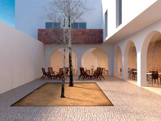 Reabilitação na Baixa Pombalina_VRSA: Casas  por FILIPE SARAIVA - ARQUITECTOS, LDA,