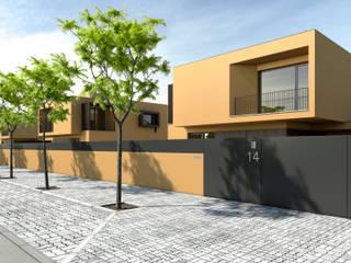 Moradias Unifamiliares em Maputo: Casas  por FILIPE SARAIVA - ARQUITECTOS, LDA,