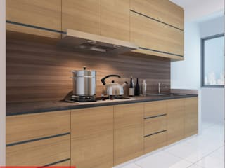 kitchen - Tempanise Central:  Kitchen by Posh Home