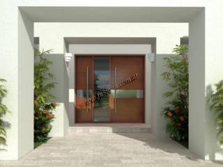 Puertas modernas de entrada, de diseño contemporáneo, exclusivas.:  de estilo  por Fusion A