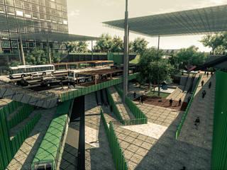 Boulevard 5 de Julio: Estación Intermodal Nodo 5 de Julio/Delicias. de Pertopia Moderno