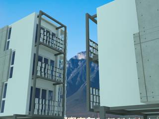 Departamentos La Fama Casas modernas de Laboratorio de Arquitectura, Urbanismo y Biohabitabilidad Moderno