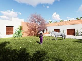 Hacienda Caribe Rojo. Casas modernas de Pertopia Moderno