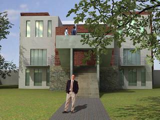 Fachada edificio existente: Casas de estilo  por Altiplano Arquitectura