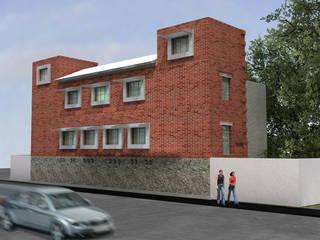 Fachada a calle posterior: Casas de estilo  por Altiplano Arquitectura